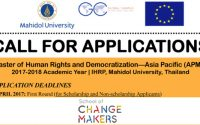 ทุน Master of Human Rights and Democratization (Asia Pacific)