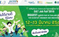 งาน Science and Technology Job Fair 2018