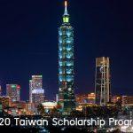 ทุนรัฐบาลไต้หวัน Taiwan Scholarship 2020
