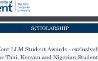 Kent LLM Student Awards สำหรับนักศึกษาไทย